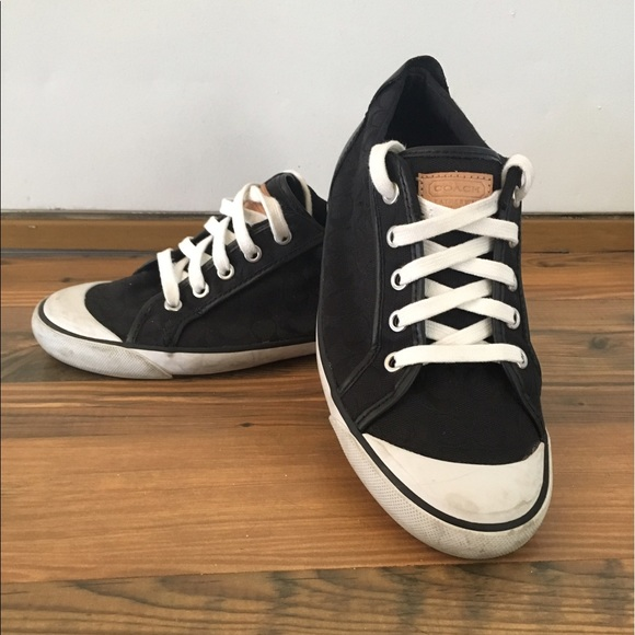 72% off Coach Shoes - Black Coach Barrett sneakers with ...