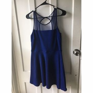 Poof Couture Dresses & Skirts - Poof Couture Navy Fit and Flare Dress
