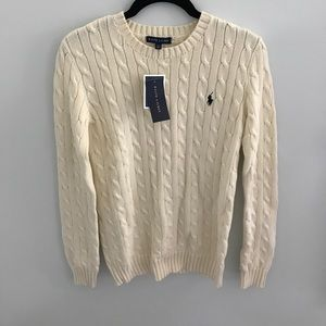 Lovely cream Ralph Lauren polo sweater