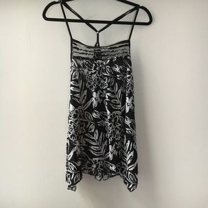 Fire Los Angeles Tops - Spaghetti straps black and white top