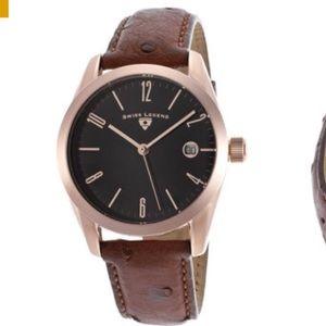 Swiss Legend Accessories - Swiss Legend Peninsula Ostrich Leather Watch