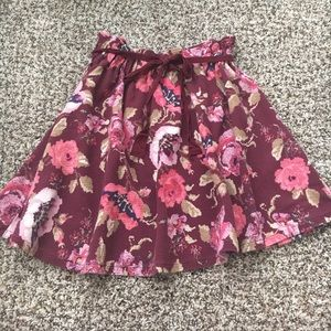 LC Lauren Conrad Skirts - Lauren Conrad Floral Circle Skirt