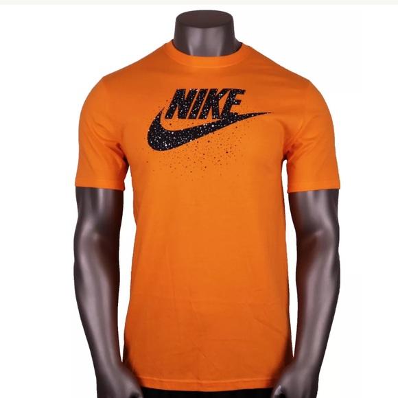 db1e5e717704 Nike Men s Futura Icon Speckles T-Shirt Orange