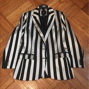 Smythe Jackets & Blazers - Smythe striped silver blazer!