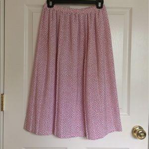 Vintage White & Red Polka Dot Skirt