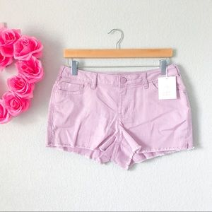 Frayed Jean Shorts in Dawn Pink by Lauren Conrad
