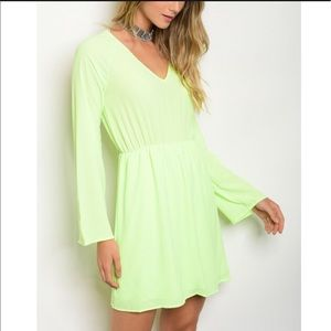 Sage Dresses & Skirts - 💥SALE💥 Neon dress with lace back NWT