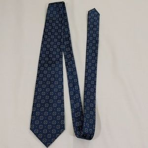 Men's tie blue and gold