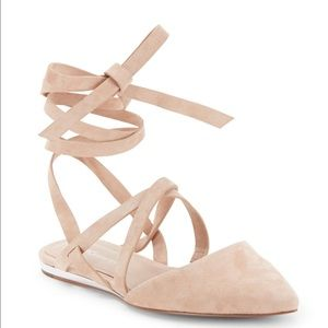 BCBGeneration Shoes - NWOB! BCBGeneration Tan Suede Lace Up Flats