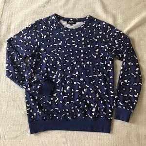 A.P.C. Tops - A.P.C. Blue Leopard sweatshirt