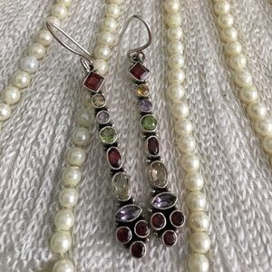 Jewelry - Gemstone and sterling earrings