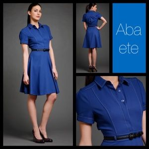 ABAETE Blue Riley Shirtdress, 6, NWT