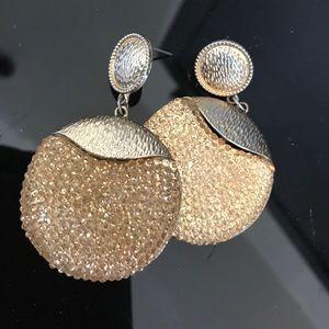 Jewelry - Disco Glitter ball drop statement earrings