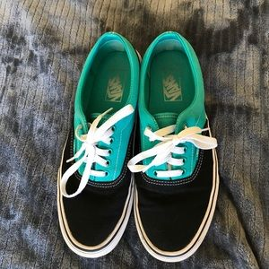 Vans Shoes - Black and Turquoise Vans!