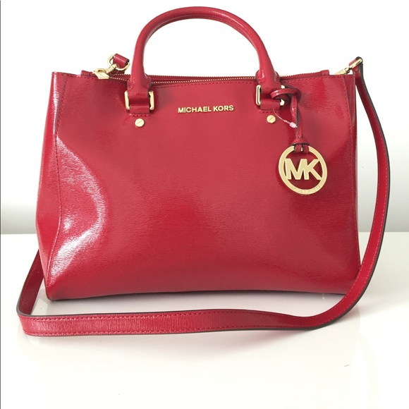 7cf4c9bc345a Michael Kors Red Patent Leather Handbags | Stanford Center for ...
