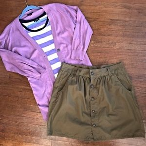 Old Navy Button Front Skirt with Pockets