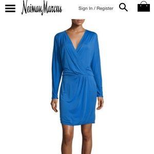 Haute Hippie Ruche-Side Mini Dress, Cobalt