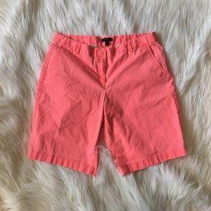 J Crew Pink Chino Shorts