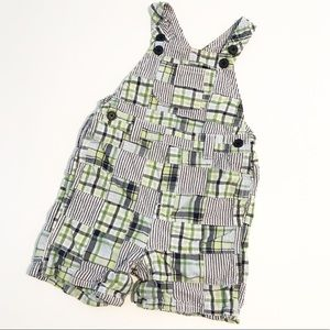 Gymboree Other - Gymboree Patchwork Overall Coverall Romper Green
