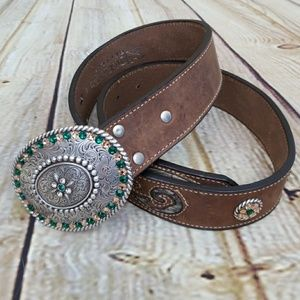 NOCONA Leather Belt and Buckle