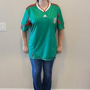 Adidas Mexico Football Soccer Official Team Jersey