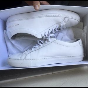 Common Projects Shoes - Common Prohects Achilles Low White
