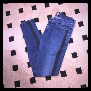 7 For All Mankind Skinny Shadow Seam Jeans