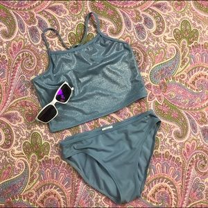 Sand N Sun Other - Girls Youth Size 14 Swimsuit Light Blue Sand N Sun