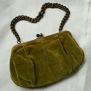 J. Crew Handbags - J. Crew Convertible Velvet Green  Handbag/Clutch