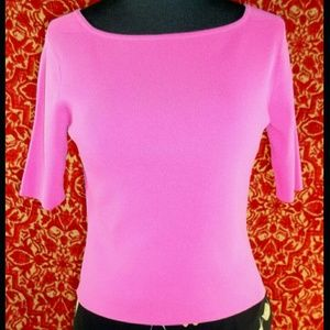 Essential G Tops - ESSENTIALS G pink short sleeve knit blouse P
