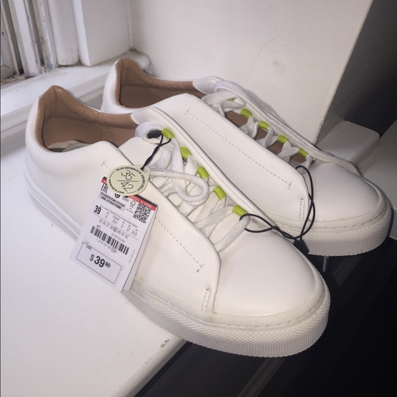 Zara Shoes | Zara White Tennis Shoes
