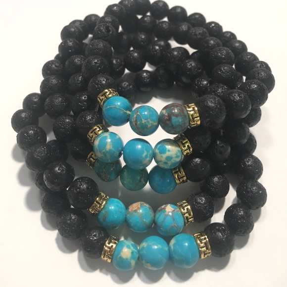 Evolving Always Other - 🆕New Natural Stone Lava Beads Stretch