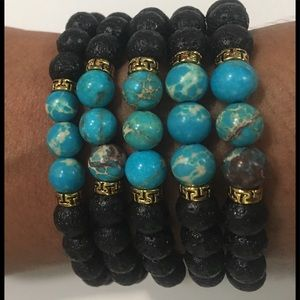 Evolving Always Accessories - 🆕New Natural Stone Lava Beads Stretch