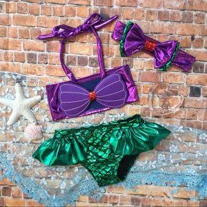 Other - RESTOCK Boutique Baby Girl 1st Mermaid Bikini 3pc