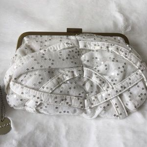 Lulu Handbags - Ivory clutch