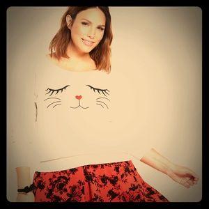 torrid Sweaters - Torrid Cat Face Sweater ADORABLE 0X NWT