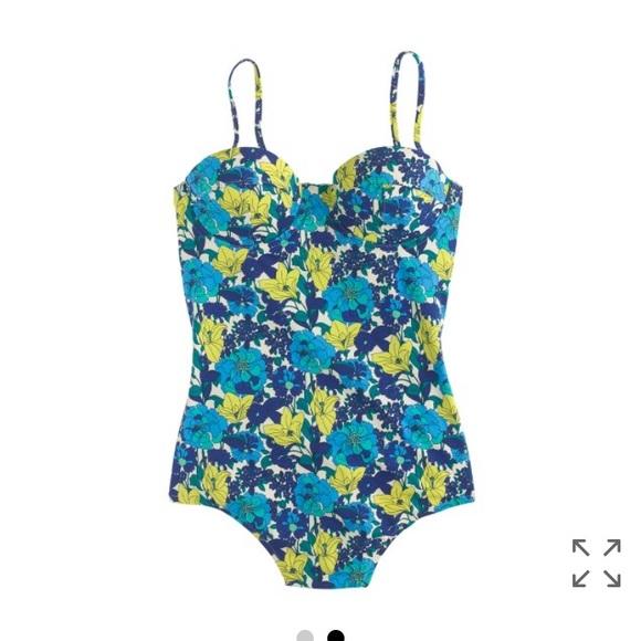 6cec9b2ed9 J. Crew Other - J. Crew retro floral underwire one piece swim suit