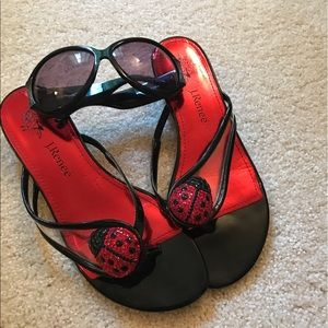 J. Renee Shoes - J.Renee Ladybug Sandals