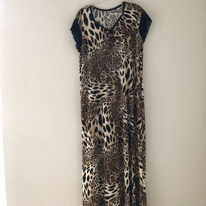 Other - Animal print night gown short sleeve size XL