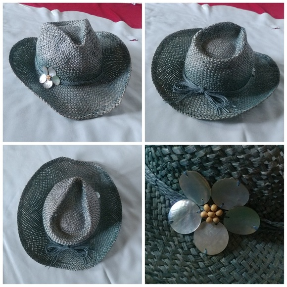 Target Accessories | Woven Teal Cowboy Hat Moldable Wire Flower ...