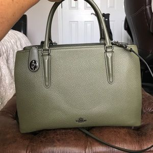 COACH Lrg Olive pebble leather handbag-beautiful!