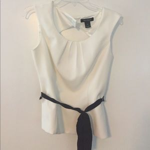 WHBM sleeveless blouse with belt
