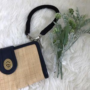 Coach Handbags - Coach Straw Wristlet