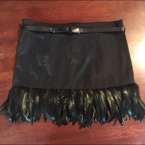 Twelve by Twelve Dresses & Skirts - Twelve by Twelve Los Angeles feather bottom mini.