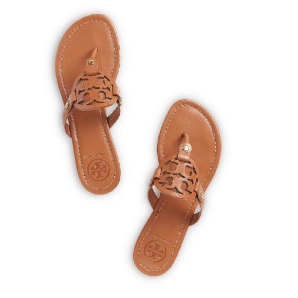d05008ac69c47 NIB TORY BURCH Miller Sandals Vintage Vachetta 8.5