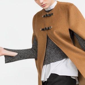 Zara Jackets & Blazers - ZARA DOUBLE BUCKLE CAPE
