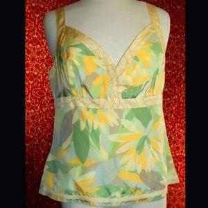 Sigrid Olsen Tops - SIGRID OLSEN Silk/cotton floral blouse 12
