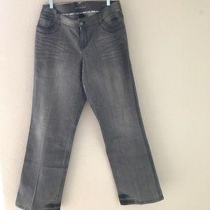 Denim - Size 14 jeans boots cut grey