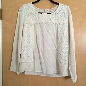 sale NWT Skies are Blue linen & lace tunic