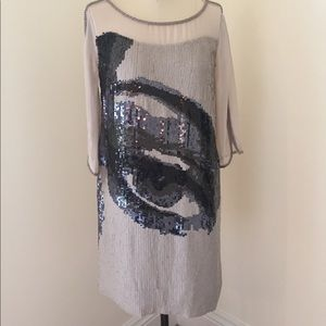 French Connection statement sequin dress.